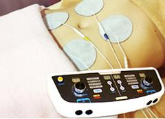寝たまま体幹トレーニング施術